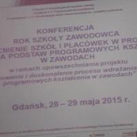 """Konferencja """"Rok szkoły zawodowców"""", Gdańsk 05.2015"""